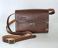 Сумка кожаная женская BAG-1 коричневая