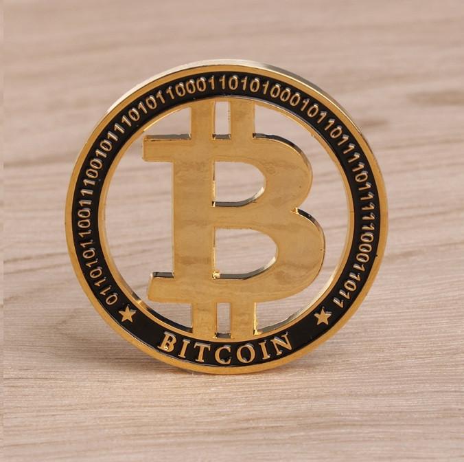Сувенирная монета на подарок. Подарочный Bitcoin