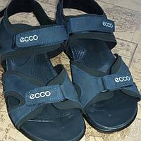 Мужские кожаные босоножки ECCO син