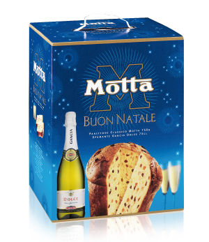 Праздничный набор Панеттон с шампанским Motta Auguri di Natale
