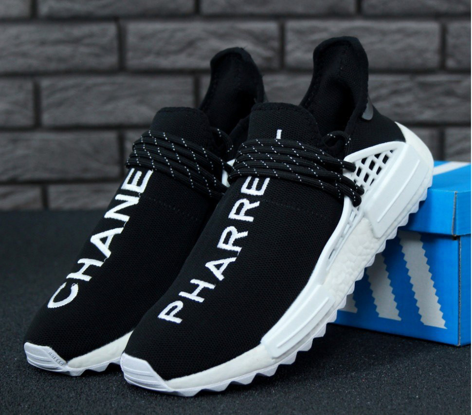 22b45fd28912 Кроссовки в стиле Pharrell Williams x Chanel x Adidas Human Race NMD мужские  45