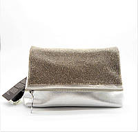 Женская сумочка из натуральной кожи с камнями серебристого цвета GСD-001371, фото 1