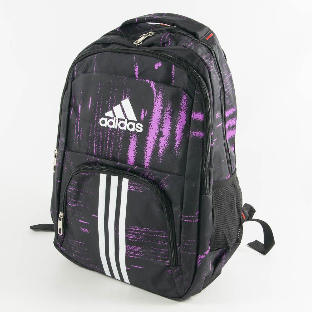 Рюкзак спортивный Адидас (Adidas) - черно-сиреневый - adi9-1