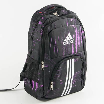 Рюкзак спортивный Адидас (Adidas) - черно-сиреневый - adi9-1, фото 3