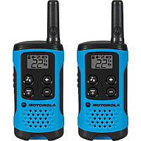 Рация Motorola TLKR T41 (0.5W, PMR446, 446 MHz, до 4 км, 8 каналов, 3xAAA), комплект 2шт., синяя, фото 1