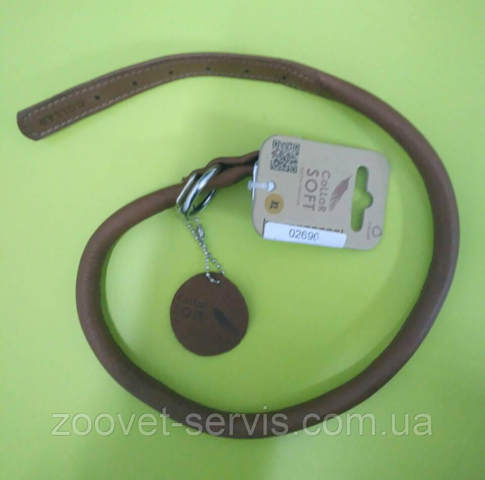 Круглый ошейник для длинношерстных собак КОЛЛАР СОФТ 02506 коричневый