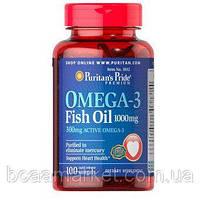 Рыбий жир, Омега Puritans Pride Omega-3 1000mg, 100 softgels