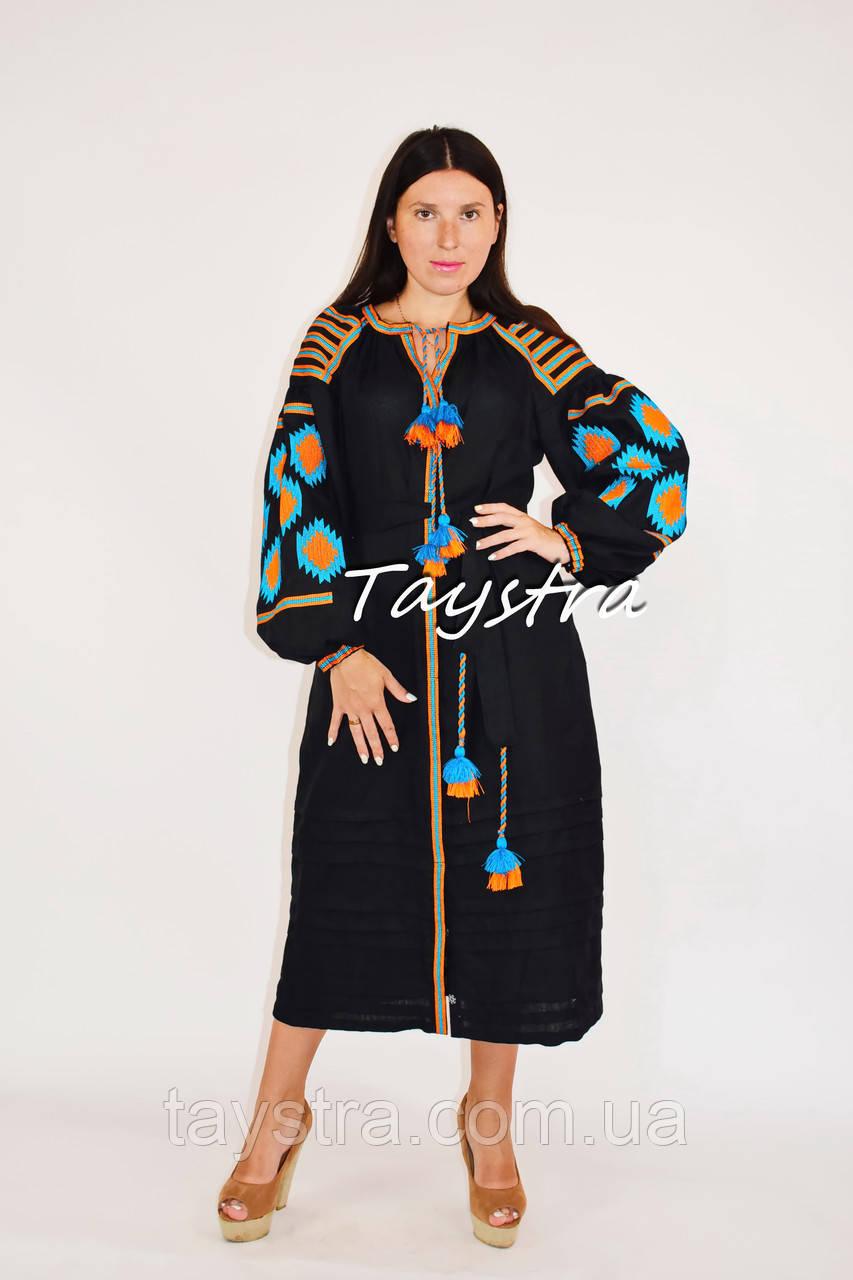 Бохо платье вышитое вышиванка лен, этно стиль бохо шик, вишите плаття вишиванка