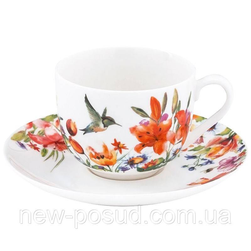 Чашка с блюдцем Krauff Colibri 100 мл 21-244-037