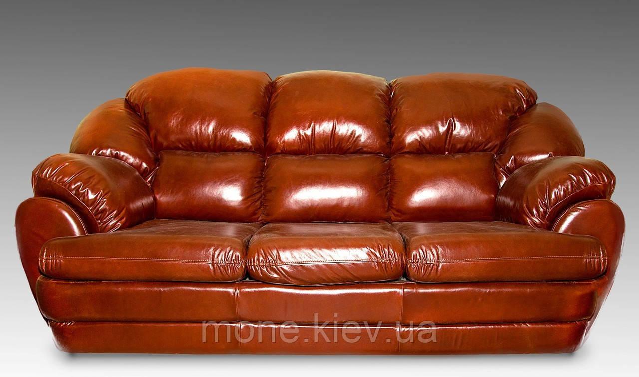 """Кожаный диван трехместный """"Аляска"""" со спальным местом"""