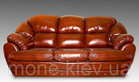 """Кожаный диван трехместный """"Аляска"""" со спальным местом, фото 2"""