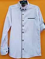 Рубашка подростковаядля мальчиков 12-16 лет, белая