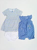 Летний комплект платье и песочник Carters для девочки