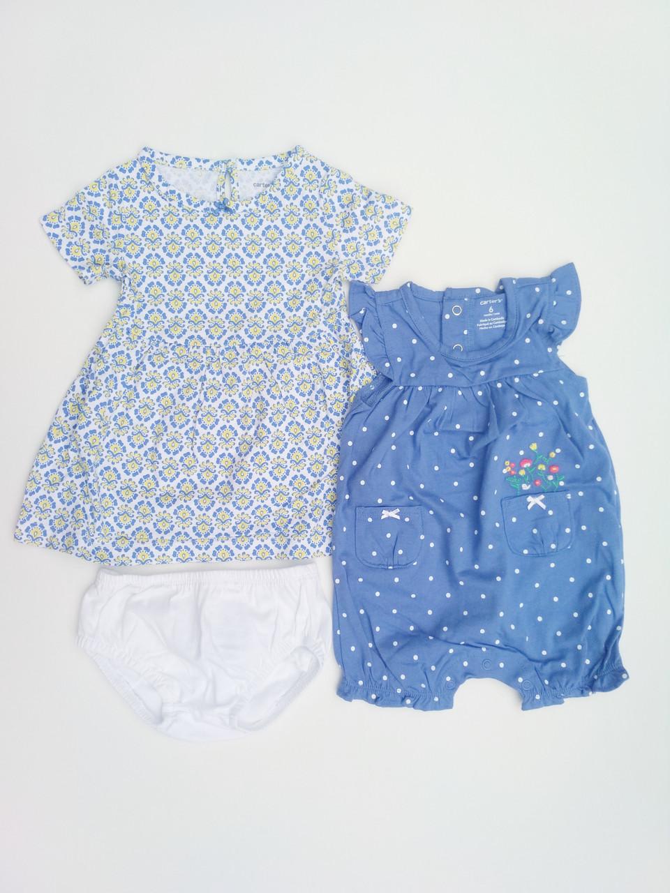 780ad6debe3 Летний комплект платье и песочник Carters для девочки - Happy.shop.ua в  Днепре