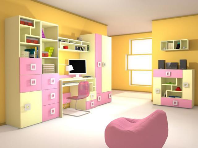 Детская комната Labirint цвет ваниль / розовый (комплект 2)