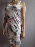 """Женская ночная сорочка  на бретельках """"Шарм"""" стрейчевая расцветка в розовых тонах, фото 1"""