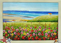 Набор для вышивки крестом Pasportu Цветочная Поляна 60 х 48 см (372-37010758)