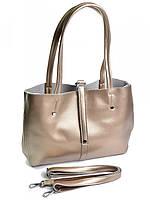 Женская кожаная сумка 1033G золотистая, фото 1