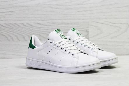 Кроссовки женскиеAdidas Stan Smith белые с зеленым, фото 2
