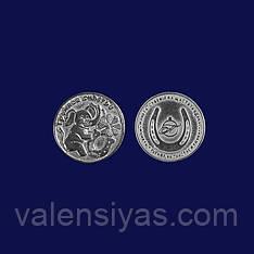 Сувенир серебряная монета Тройное счастье