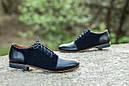 Мужские туфли дерби из кожи и нубука, фото 2