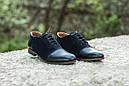 Мужские туфли дерби из кожи и нубука, фото 3