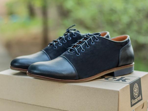 Мужские туфли дерби из кожи и нубука