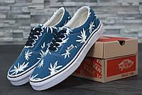 Кеды летние мужские голубые с рисунком прикольные модные низкие Vans Era Palm Ванс Ванс Эра Пальмс