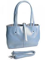 Женская кожаная сумка 1033G голубая, фото 1
