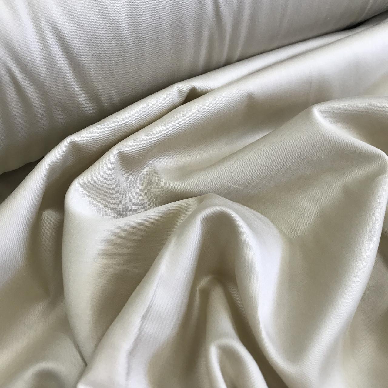Сатин бежевый для постельного белья, мерсеризованный  (ТУРЦИЯ шир. 2,4 м) № 31-25s