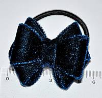 Бархатные резинки для волос - синяя (от 1 шт)