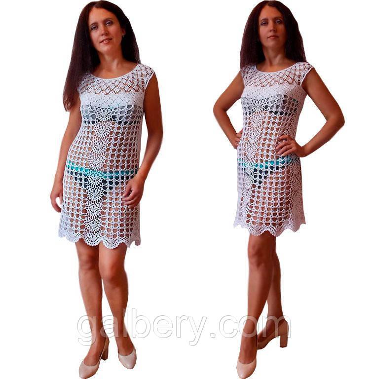 В'язане гачком літнє плаття з мотивів сукні Аннабель