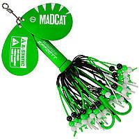 Блесна-вертушка на сома с двумя лепестками DAM MADCAT A-Static Rattlin' Teaser Spinner 75гр (green)