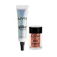 Набор NYX (праймер для нанесения блесток + блестки)