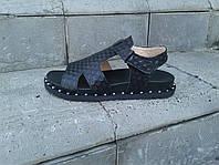 Стильные черные босоножки. Натуральная кожа 1950