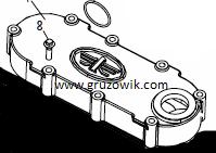 Крышка масляного радиатора (охладителя) FAW 3252