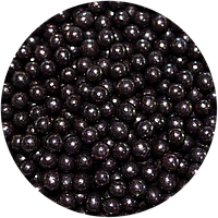 Шарики сахарные черные, 4 мм