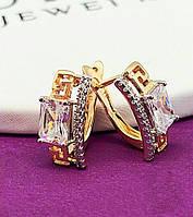 Серьги женские позолота XР. Мед золото. Код:3177