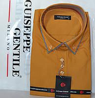 Приталенная рубашка с коротким рукавом под запонку Guiseppe Gentile (размеры XS.S.M.L.XL.XXL), фото 1