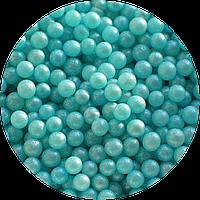 Шарики сахарные перламутровые голубые, 5 мм