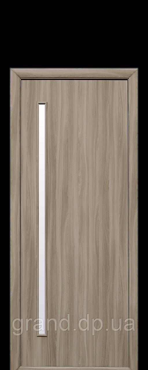 Межкомнатная дверь  Глория Экошпон со стеклом сатин, цвет сандал
