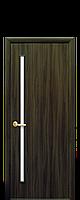 Дверь  Глория Новый стиль экошпон со стеклом сатин, цвет кедр