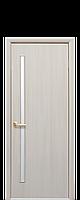 Міжкімнатні двері Глорія Екошпон зі склом сатин, колір дуб перлинний