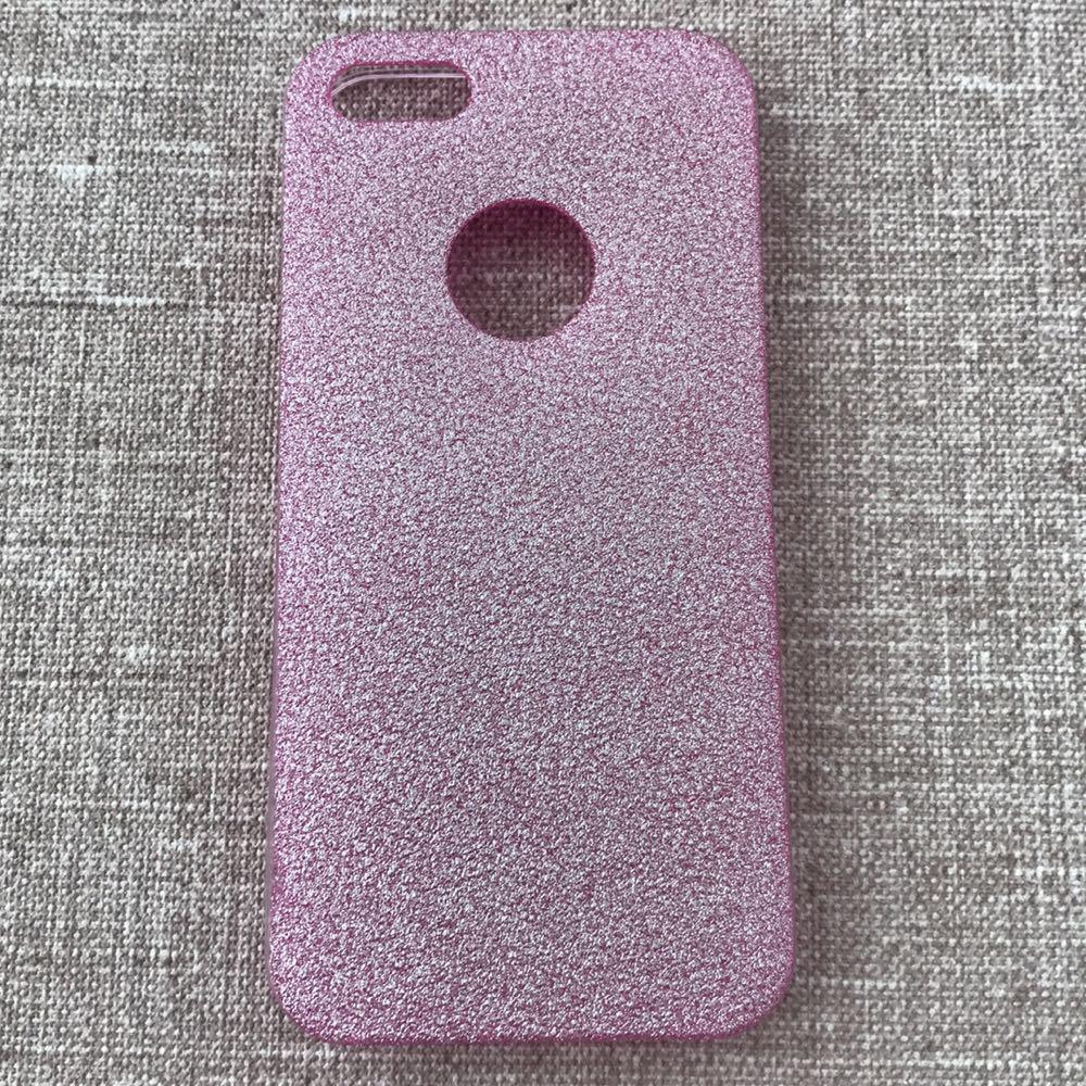 Накладка Remax Glitter Silicone iPhone 5 pink