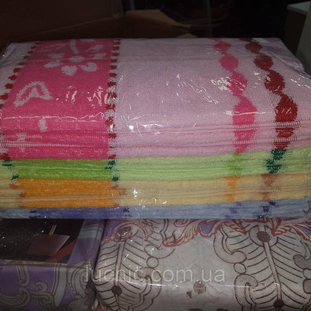Кухонные полотенце махровое 35*70 12 шт в уп.