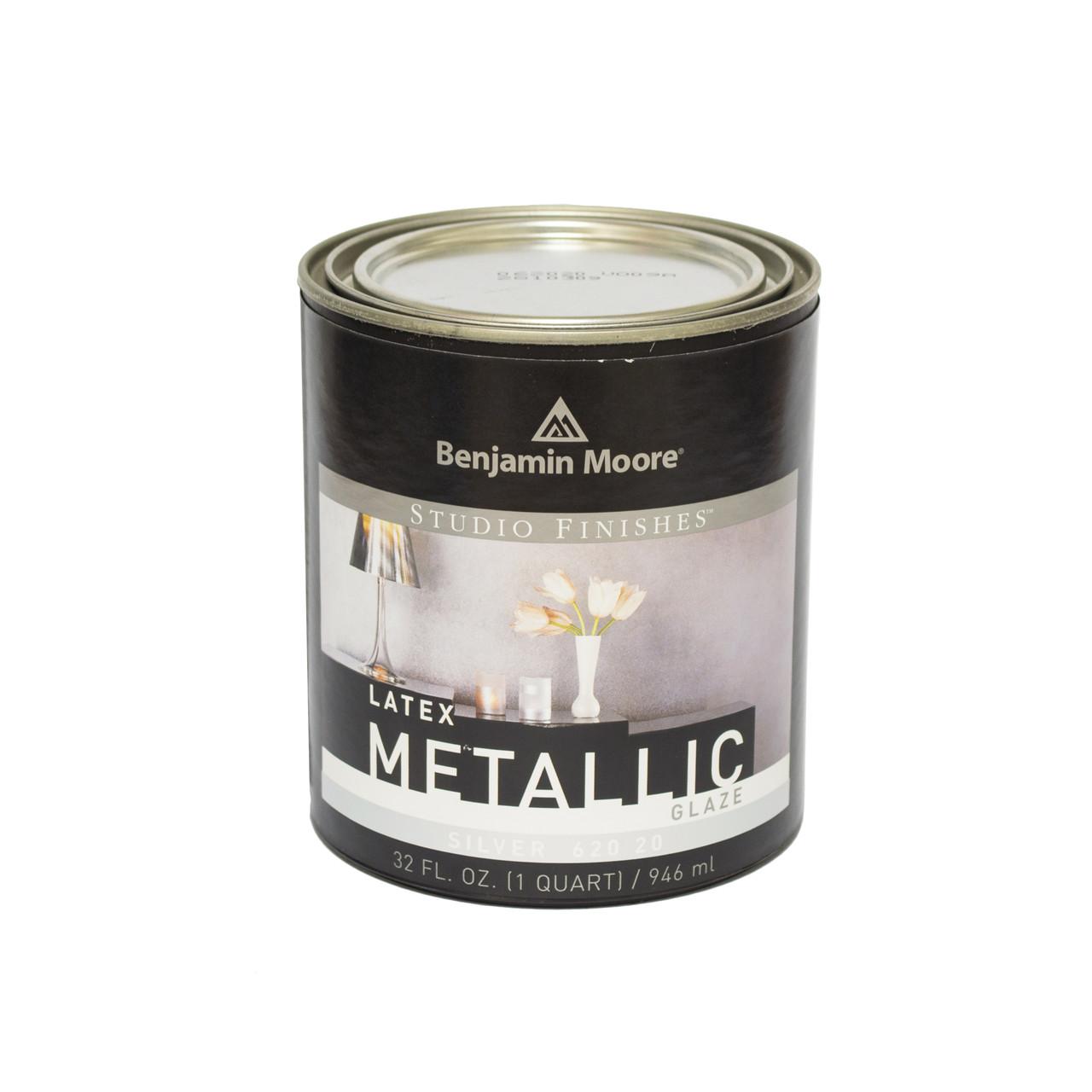 Декоративное латексное покрытие  Benjamin Moore Metalics серебро (620) 0,95 л