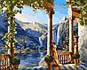 Картина-раскраска Девушка у водопада худ. Сатаров, Михаил (VP011) 40 х 50 см