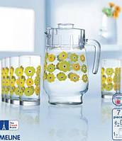 Lum Meline Набор/вода(кувш.1,6л,стак.270мл-6шт)-7пр.