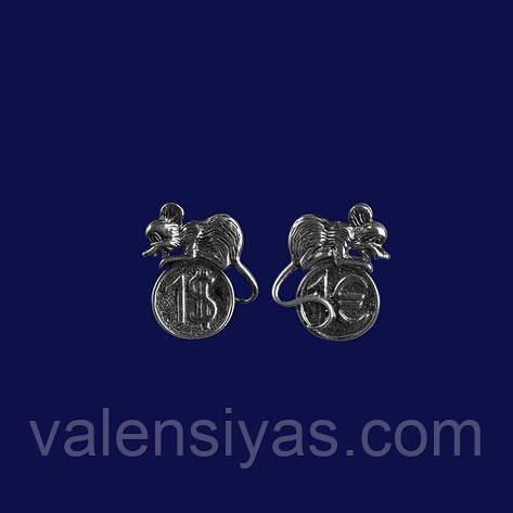 Кошельковая мышка -  серебряный сувенир, фото 2