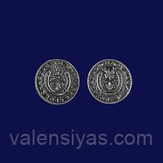 """Сувенир серебряная монета """"На удачу и богатство"""""""